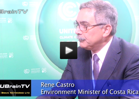 Costa Rica Minister René Castro-Salazar | UBrainTV Interview / Climate Vulnerable Forum | CVF | 2013-15 Action Plan